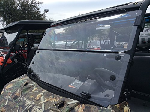 A&S AUDIO AND SHIELD DESIGNS 2013-2019 POLARIS RANGER XP 900,900-5 CREW, 2016-2017 POLARIS RANGER 1000, 1000 CREW 3/16 POLYCARBONATE FOLD DOWN WINDSHIELD ()