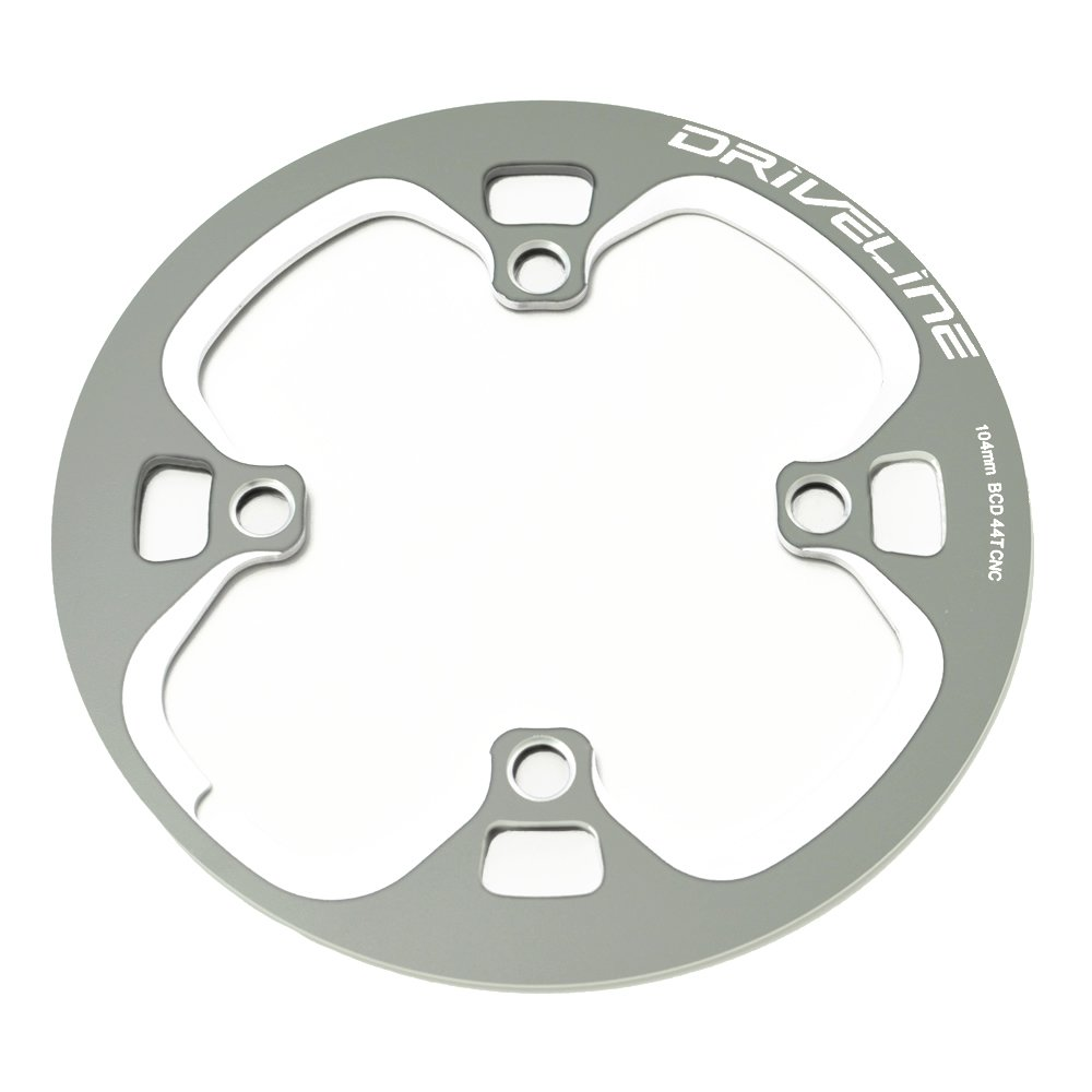 Driveline 44T Bash Guard, Chainring Guard, Chain Cover, BCD104mm CNC (gray)