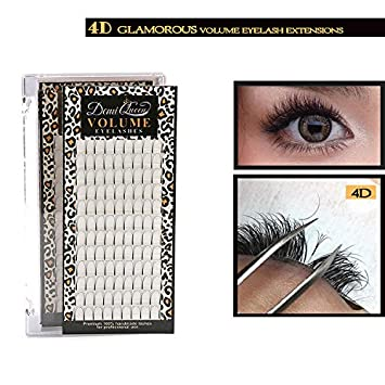 8b9badafef7 Demi Queen 4D Premade Fans Russian Individual Volumes Rapid Cluster Lash  Extensions Thickness 0.07mm D