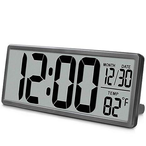 Extra Grande Visión Reloj De Pared Digital, Jumbo Despertador, Pantalla LCD Alarma Snooze Calendario