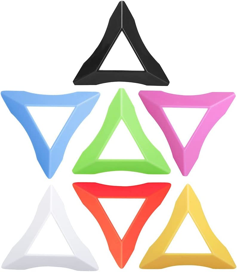 VANKER Cubo Magico Base Soporte para Puzzle Cube,Ligero Durable,Color Amarillo