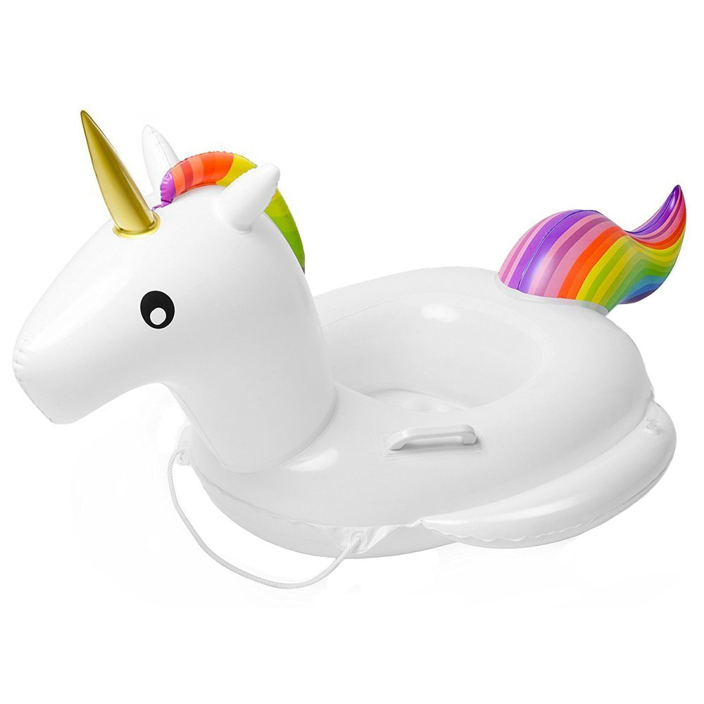 Baby Pool Float Unicorn Inflatable Boat Children Inflatable Swimming Pool Loungers Baby Summer Fun Outdoor Pool Toys Float Raft