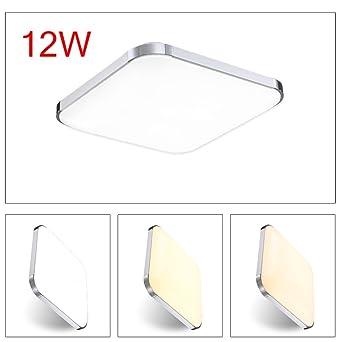 Hengda® lámpara de techo led blanca fría de sala de estar luz de cocina lámpara ...