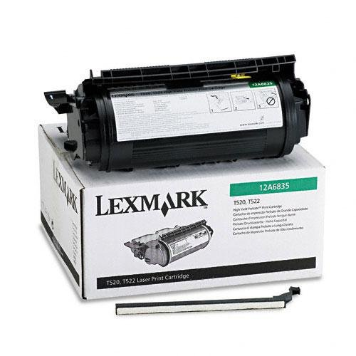 Genuine Lexmark Toner for Optra T520, T522, X520, X522 - 12A6735 (12A6835/ 12A6839) HY, 20K (Laser Cartridge Toner 12a6835)