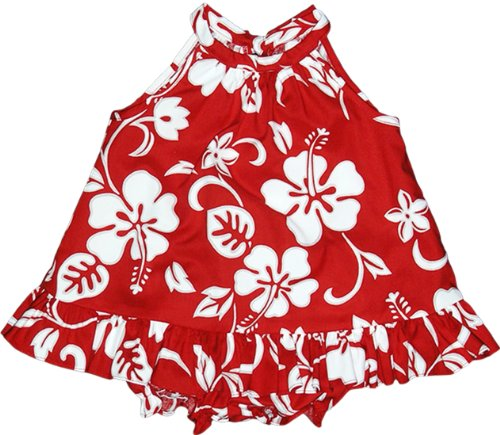 RJC Baby Girls Classic Hibiscus Halter 2pc Set Red 24 -