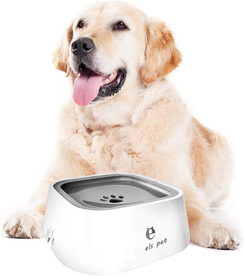 YOUTHINK Pet Water Bowl Anti-Spill Automatic Dog Bowl Vehicle Carried Floating Bowl Slow Water Feeder for Dogs Cats.