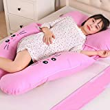 Comfortable Large U-shaped Pillow Body Support Care Maternal Pregnancy Pillow, Waist Pillow Multi-function Side Sleeping Pillow (Color : A)