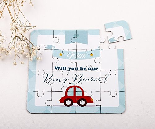 Ring Bearer Gift Will You Be Our Ring Bearer Puzzle Invitation, Will you be our Page Boy, Junior Groomsman any role Puzzle Invitation