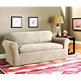 Amazoncom Sure Fit Stretch Corduroy 3Piece Sofa Slipcover Oar