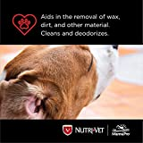 Nutri-Vet Ear Cleanse for Dogs   Cleans and Removes Wax From Ears   Veterinary Formulated to Clean and Deoderize   8 Ounces