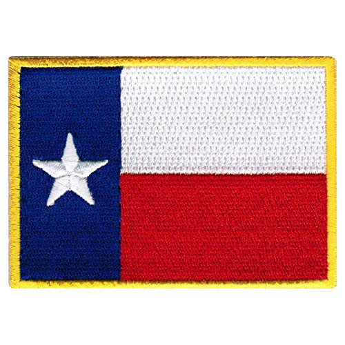 Texas State Flag Embroidered Patch Iron-On TX Lone Star Emblem (Texas Flag Patch State)