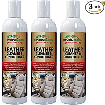 KevianClean Leather Cleaner and Conditioner 16 oz. (3 Pack) - Best for  Real, Genuine, Vegan, PU & Faux Car Leather - Ideal Treatment for  Furniture, ...