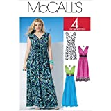 McCalls Ladies Plus Size Easy Sewing Pattern 6073 Summer Dresses In 3 Lengths