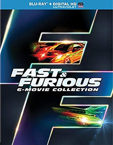 FAST & FURIOUS 6-MOVIE COLLECTION (BLU RAY W/DIG HD/UV/SNAP CASE/W/SLIPCASE from UNI DIST CORP. (MCA)