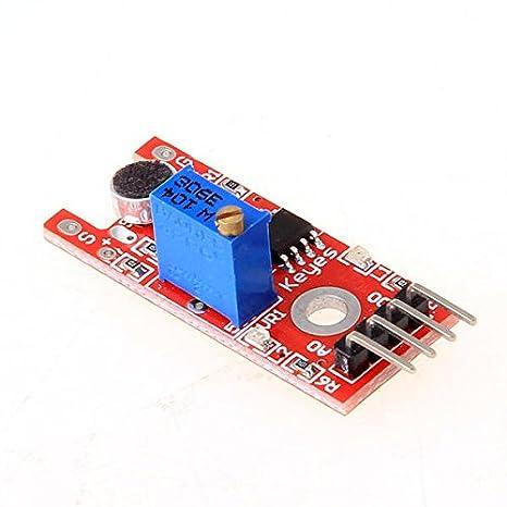 Módulo Del Sensor Detector De Sonido Voz Para Sistema De Alarma: Amazon.es: Electrónica