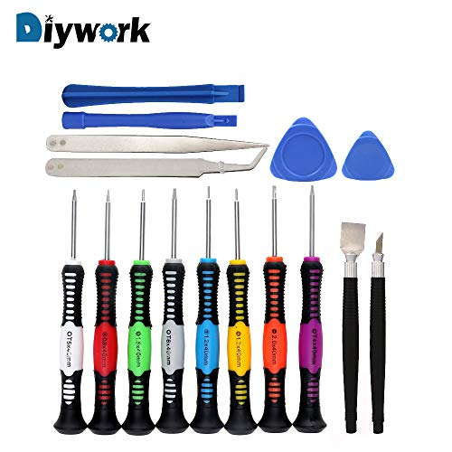 1 piece DIYWORK 16 in 1 Mobile Phone Repair Tools Kit Spudger Pry Opening Tool Screwdriver Set for iPhone iPad Hand PC PDA Tablet