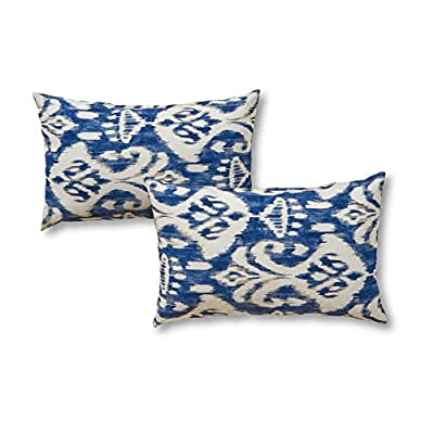 Greendale Home Fashions 19 x 12 in. Rectangular Outdoor Accent Pillows - Set of 2 - Dimensions: 19L x 12W x 4H in. Outer fabric 100% polyester Fill is 100% recycled plastic - patio, outdoor-throw-pillows, outdoor-decor - 51kJJl%2BglwL. SS400  -