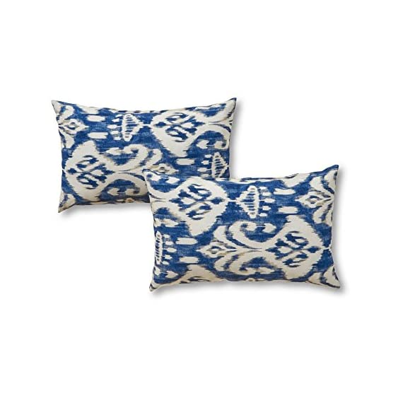 Greendale Home Fashions 19 x 12 in. Rectangular Outdoor Accent Pillows - Set of 2 - Dimensions: 19L x 12W x 4H in. Outer fabric 100% polyester Fill is 100% recycled plastic - patio, outdoor-throw-pillows, outdoor-decor - 51kJJl%2BglwL. SS570  -