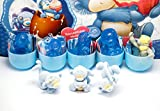 [RusToyShop] 20 psc for Girls Toys From Kinder Surprise Eggs in Shells Capsules Party Favor Filled Easter Eggs figures cupcake toppers toddlers