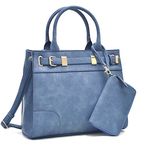 dasein-womens-designer-belted-satchel-handbag-top-handle-purse-work-bag-briefcase-with-shoulder-stra