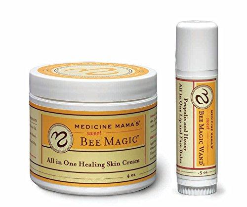 Magic Skin Balm (Medicine Mama's Apothecary Sweet Bee Magic and Lip Balm, Organic Skincare Set, 4.5 Ounce)