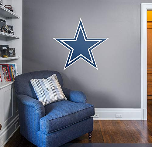 FATHEAD NFL Dallas Cowboys Officially Licensed Logo Removable Wall Decal, Multicolor, Giant