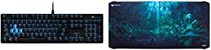 Acer Predator Aethon 300 Mechanical Gaming Keyboard: Cherry MX Blue Switches - 100% Anti-Ghosting & Acer Predator Forest Battle XXL Mousepad, PMP831