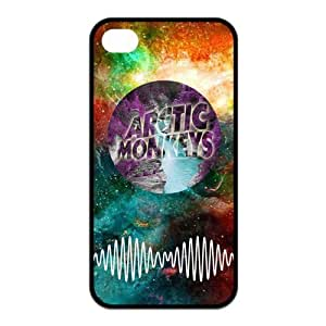 4s Case, iPhone 4 4s Case - Fashion Style New Arctic Monkeys Painted Pattern TPU Soft Cover Case for iPhone 4/4s(Black/white)