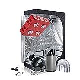 TopoGrow Grow Tent Kit LED 800W COB Grow Light Kit +48''X24''X72'' Indoor Grow Tent + 6'' Inline Fan Filter Ventilation Kit (LED800W+48''X24''X72''+6''Ventilation Kit)