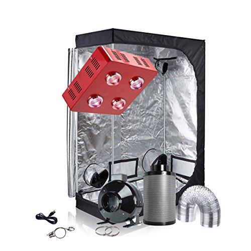 TopoGrow Grow Tent Kit LED 800W COB Grow Light Kit +48