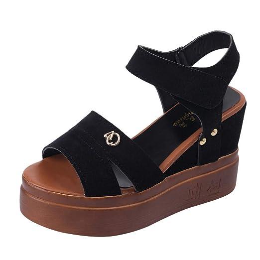 96e7e2deeee45 Amazon.com: Duseedik Summer Women's Sandals Wedges Fish Mouth Thick ...