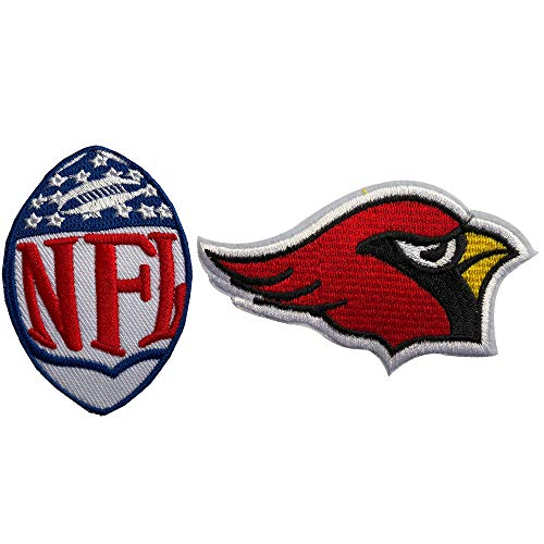 Hipatch Arizona Cardinals Embroidered Patch Iron on Logo Vest Jacket Cap Hoodie Backpack Patch Iron On/sew on Patch Set of 2Pcs