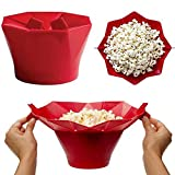 The Original Qiyao Microwave Popcorn Popper,Silicone Popcorn Maker for Home,Collapsible Silicone Bowl BPA Free