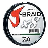 Daiwa JB8U30-300DG J-Braid Braided Line, 30 Lbs Tested, 330 yd/300M Filler Spool, Dark Green