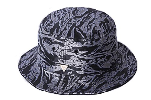 Summer Beach Sun Hat Outdoor Bucket Hat (One Size, Camo Black)