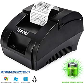 Amazon com: Lightweight Receipt Printer| Compact, Space