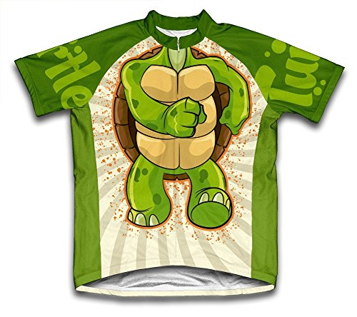 Scudo Turtle Microfiber Short-Sleeved Cycling Jersey, S - Microfiber Bicycle Jersey