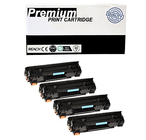 JSL 4 PK CB435A 35A Black CE285A Toner Cartridge For HP LaserJet P1005 P1006 Printer