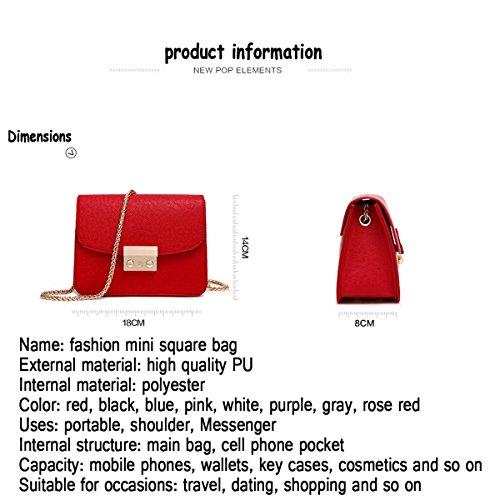 Cadena Bolsa Wild Grey Pequeña Lady La Cuadrada Bolso Mini Messenger Hombro Bag De Zhi Wu wRXFEqxnvT