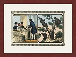Children visit the Shoemaker 12x18 Archival Ink-JetPprint, Matted and Framed