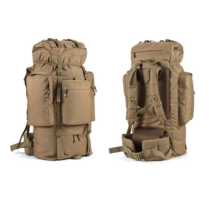 HEUFHU888-mochila exterior Bolsa de alpinismo para exteriores de gran capacidad, 100 litros, descompresión liviana, impermeable, esquí para acampar con ...