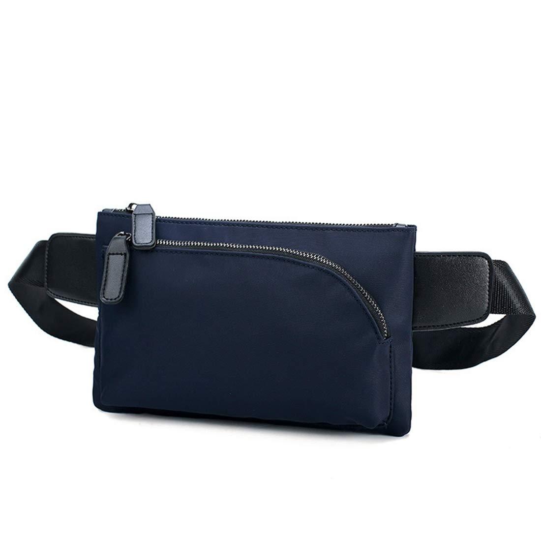 Color : Blue RABILTY Fanny Pack Black Waist Bag Travel Hiking Hip Bum Purse Blue Oxford Cloth Travel Neck Pouch