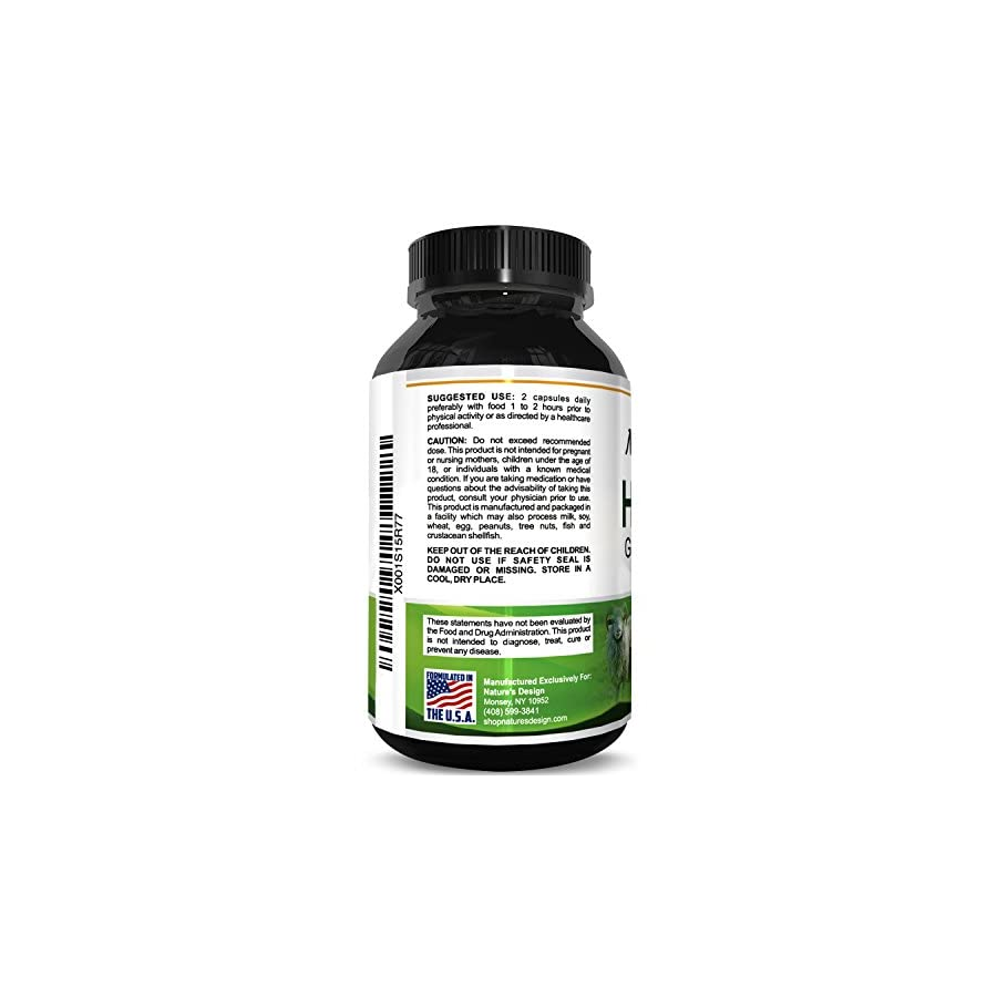 Horny Goat Weed Herbal Complex Extract for Men & Women | Ginseng, 100% Maca Root Tongkat Ali Powder | 60 1000mg Optimum Dosage Capsules | Energy, Stamina, Performance | USA Made