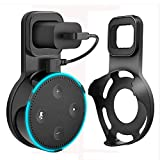 #10: Yuanling Outlet Wall Mount Hanger Stand for Dot 2nd Generation, A Space-Saving Solution for Your Smart Home Speakers without Messy Wires or Screws (Black)