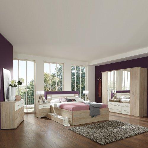 Schlafzimmerset 5-tlg »MODEO« Eiche sägerau, alpinweiß