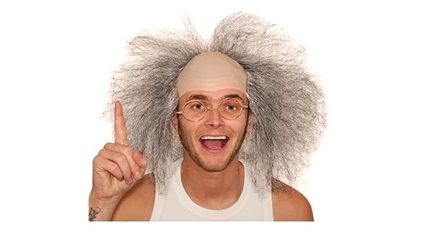 Beetlejuice Style Mad Professor Bald Wig (peluca): Amazon.es: Juguetes y juegos