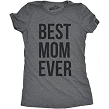 Womens Best Mom Ever T shirt Funny Ladies Mothers Day Tees for Moms (Grey) L