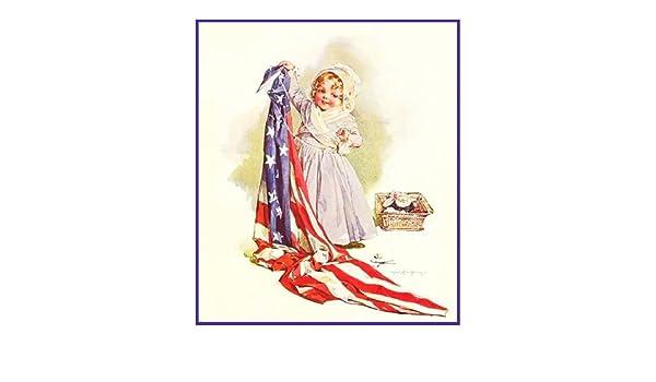 Maud Humphrey Bogart Playing Dress Up Betsy Ross Counted Cross Stitch Pattern