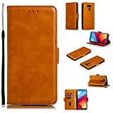 Snow Color Leather Wallet Case for LG G6 / LG G6+ (G6 Plus) with Stand Feature Shockproof Flip, Card Holder Case Cover for LG G6 / LG G6+ - COYKB010526 Yellow
