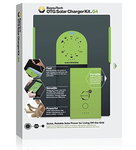 BayouTech OTG G4 Portable Solar Power Bank Charger and Battery Pack by Gatorwire (Image #1)